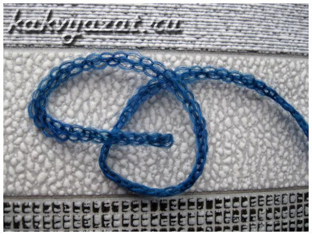 Нить шнурочного плетения от пряжи Super Baby Fine.