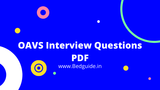 OAVS Important Interview Questions For TGT/PGT/PRT