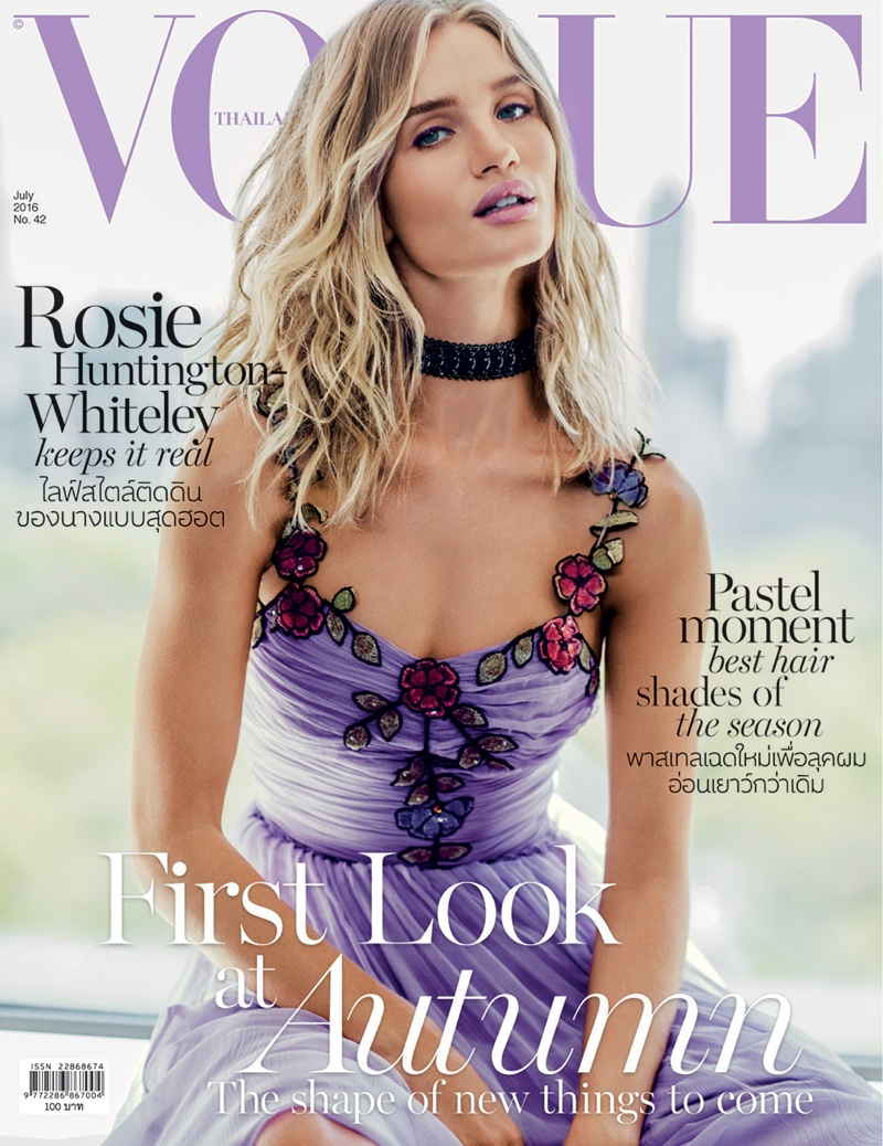 Rosie Huntington-Whiteley wears glamorous designs for Vogue Thailand