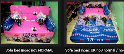 Sofa bed inoac ukuran no 4 atau bisa juga disebut sofa bed nomor 3 normal
