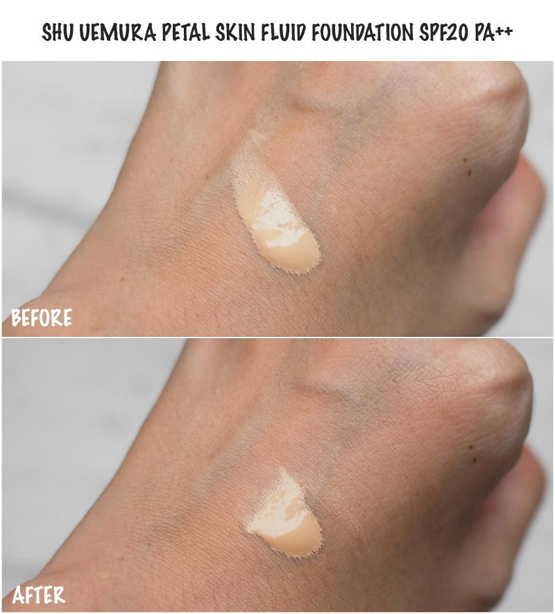 Review Shu Uemura Petal Skin Fluid Foundation Yina Goes