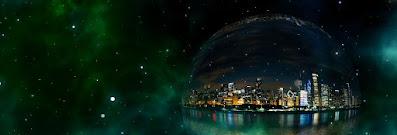 Foto ciudad medio iluminada. Tiempo significado filosófico de la oscuridad