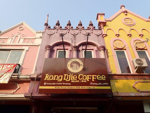 kong djie coffee, kedai kopi di pasar modern bsd