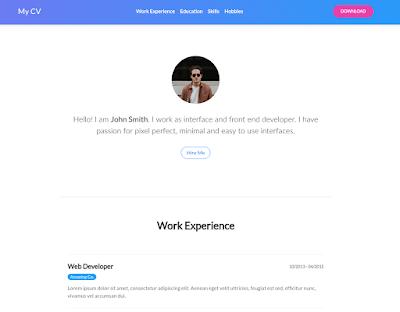 Mẫu CV đẹp với Bootstrap - AnonyHome