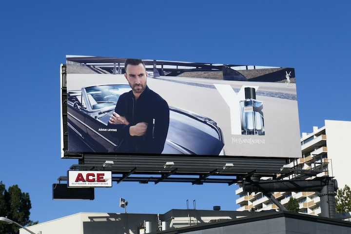 Adam Levine Y Yves Saint Laurent fragrance billboard