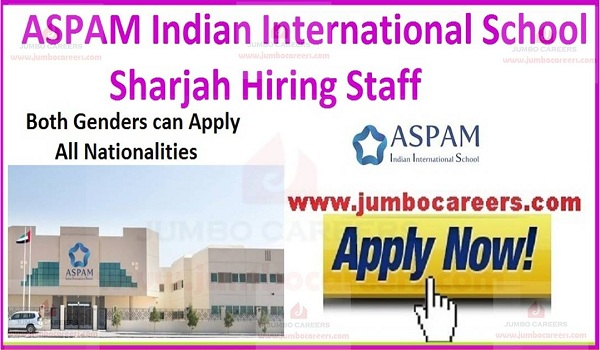 Sharjah Urgent school jobs,