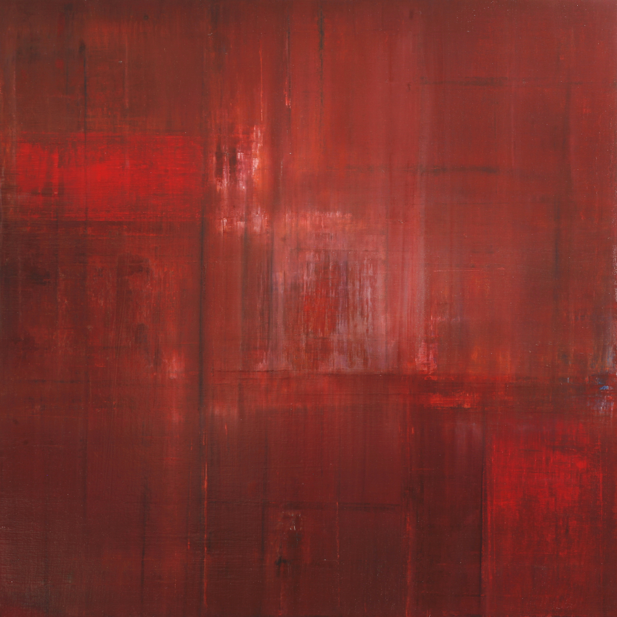 Image of the abstract painting entitled The Apple Boxes by artist Martha Hope Carey