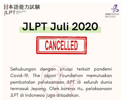 JLPT Juli 2020 dibatalkan Fujiharu