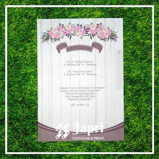 Cetak Undangan Pernikahan Blangko Maliq  49