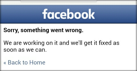 screnshoot error facebook via browser google chrome android Cara Mengatasi Masalah Error Facebook : Sorry, something went wrong. We are working on it and we'll get it fixed as soon as we can