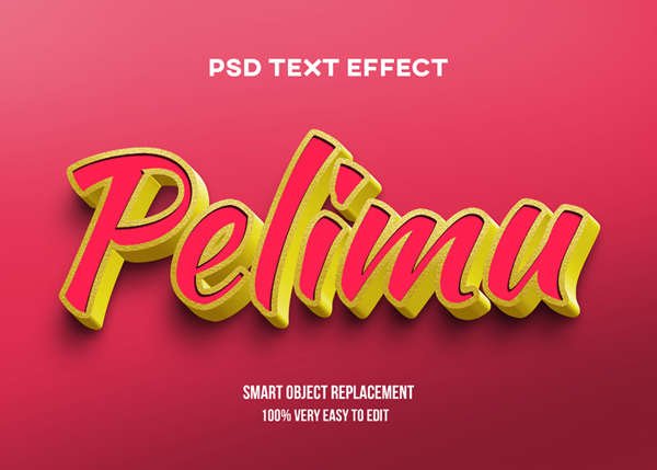 Red Gold PSD Mockup