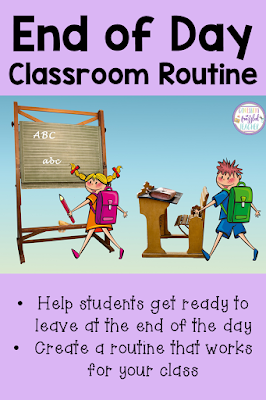 Teachers help create an End of the School Day Routine that is structured and relaxing for you! In this blog post, you will find the routine used by a 3rd grade teacher as well as get some tricks and tips that you can use in your own classroom. Change the stressful end of the school day into your favorite, relaxing time! #confessionsofafrazzledteacher #teachers #endofschoolday #endofday {Kindergarten, First, Second, Third, Fourth, and Fifth Graders}