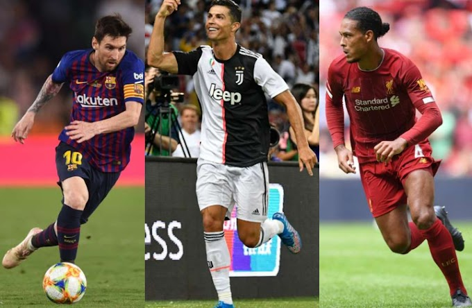 Cristiano Ronaldo, Virgil van Dijk and Lionel Messi shortlisted as the final three for FIFA's The Best Men's Player award