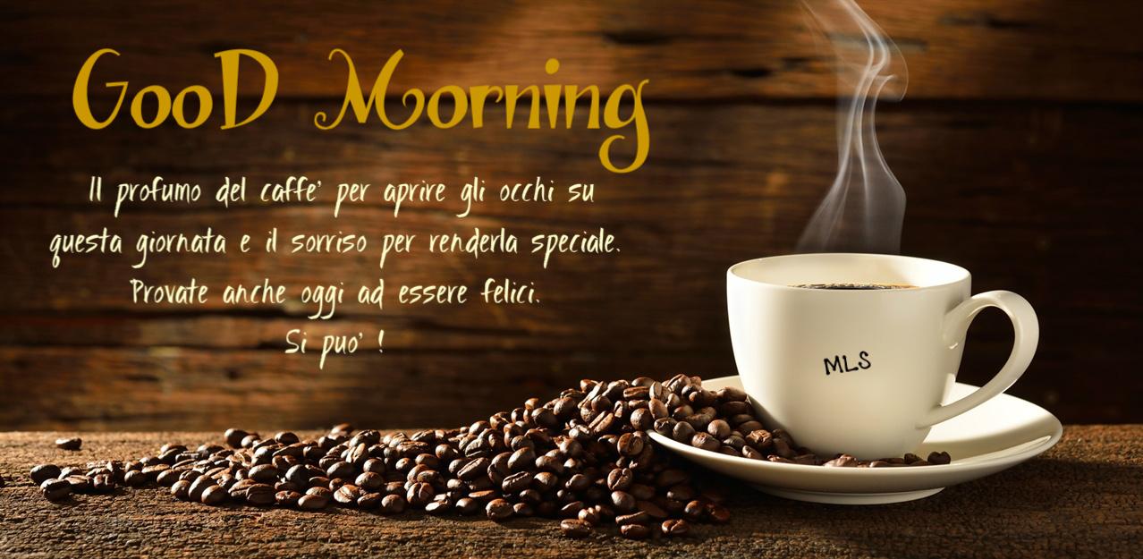 frasi buongiorno caffè