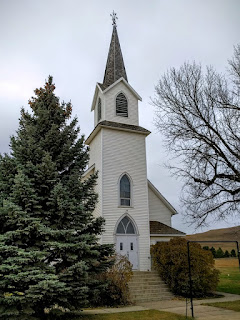 Sims Lutheran Church in the ghost town of Sims, North Dakota