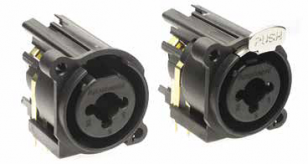 "AC Series Dual 1/4"" (6.35mm) / XLR Chassis Mount"