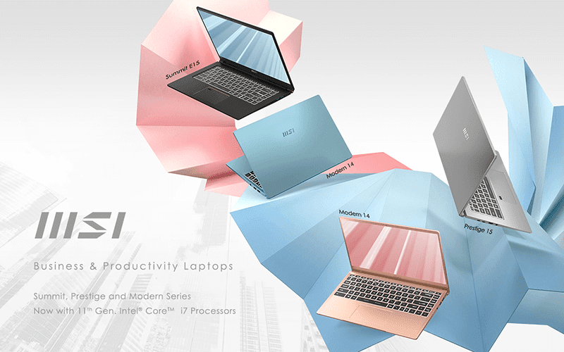 MSI announces Summit, Prestige, and Modern laptop series