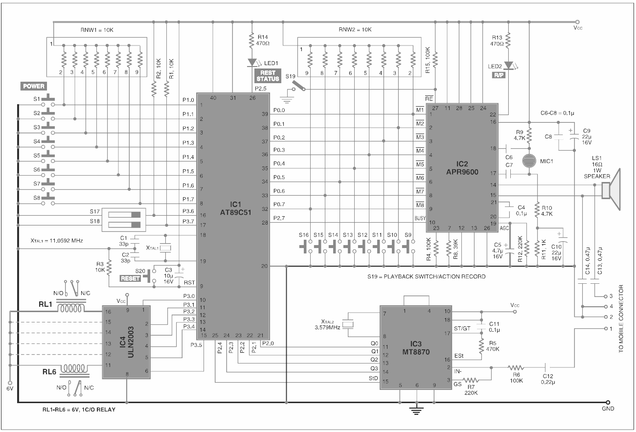 dtmf decoder ic mt8870 pin diagram aiphone intercom wiring embed india gsm home automation with voice acknowledgement