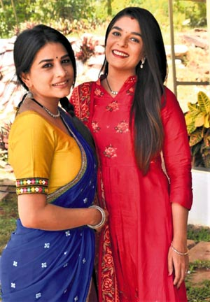 Pooja Gor and Bhumika Gurung