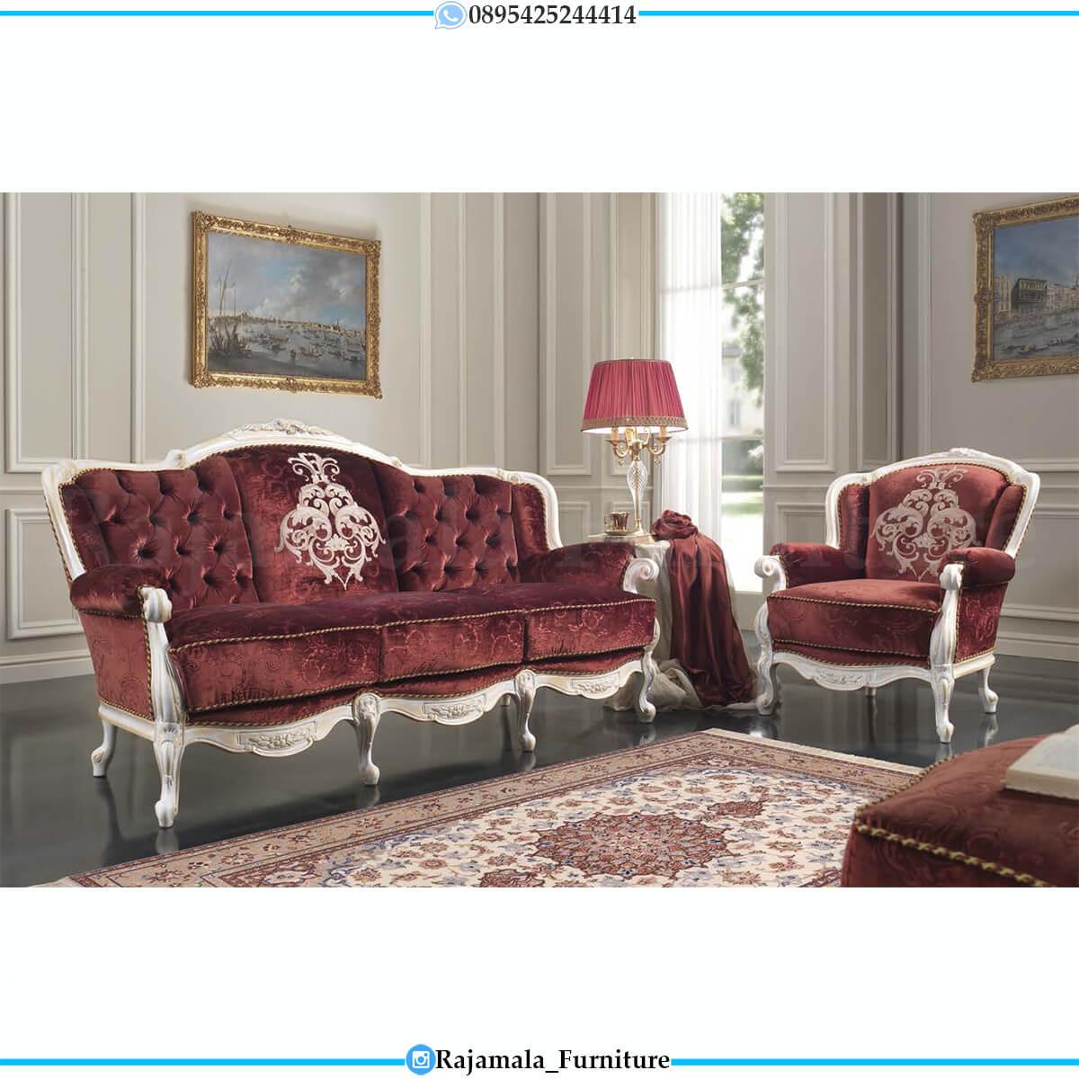 Sofa Mewah Terbaru Luxury Red Velvet Beludru Color Fabric RM-0744