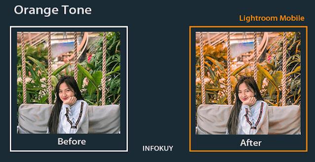 Tutorial Edit Foto Orange Tone di Lightroom Mobile - Sangat Mudah !