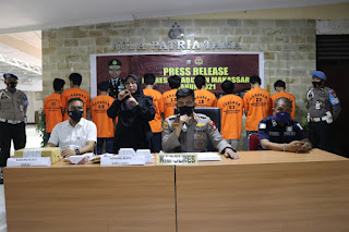 Operasi Antik 2021 Polres Pelabuhan Makassar Ciduk 29 Tersangka