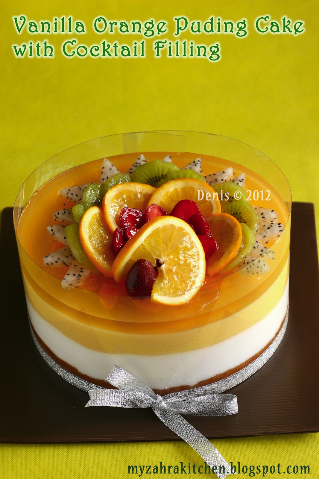 Zahra Kitchen Vanila Orange Puding Cake Untuk Bapak