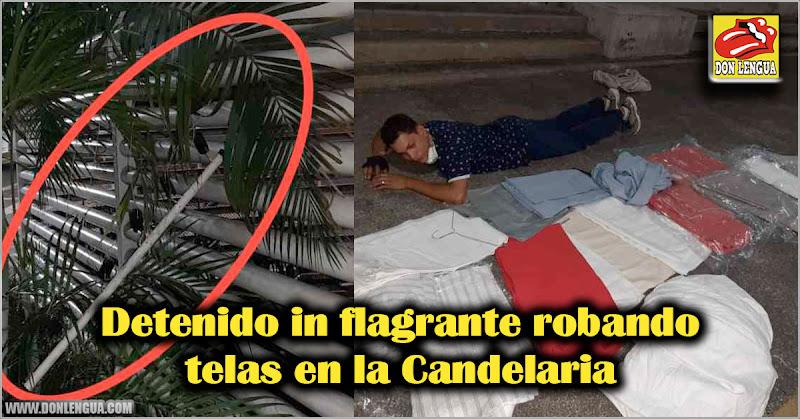 Detenido in flagrante robando telas en la Candelaria