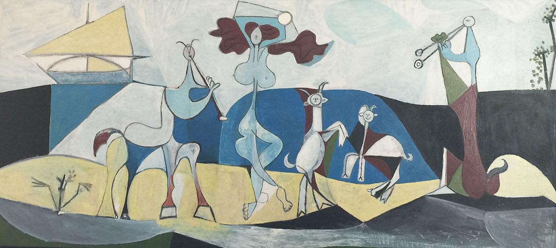 Francoise Gilot e Picasso ad Antibes