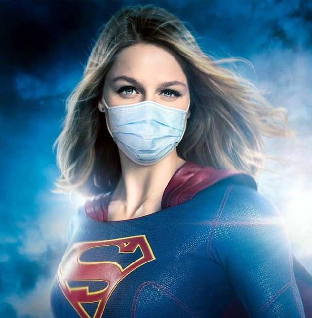 Super-heróis da TV adotam máscaras em campanha de conscientização