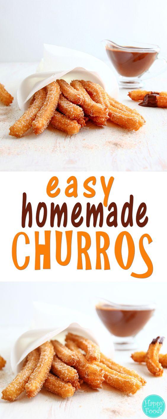 HOMEMADE CHURROS #homemade #churros #cake #cakerecipes #dessert #dessertrecipes