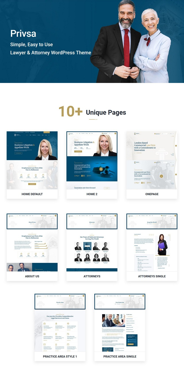 Lawyer and Attorney Website Theme
