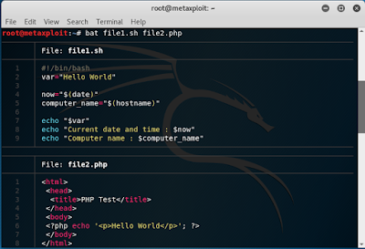 Bat – Cat Clone with Syntax Highlighting