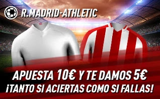 sportium promo Real Madrid vs Athletic 15 diciembre 2020
