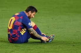 Leo Messi sufrió una fuerte contusión