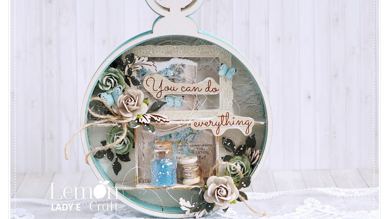 Shadowbox Tutorial from Lemoncraft Scrapbooking Mystery Box