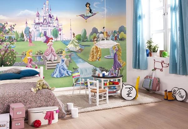 Tapetti lastenhuoneeseen valokuvatapetti lapsia Disney prinsessa lastenhuone tapetti lasten tapetti