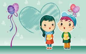 Gambar pasangan kartun romantis