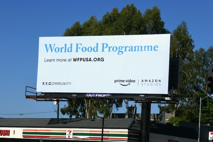 World Food Programme Amazon FYCommunity billboard