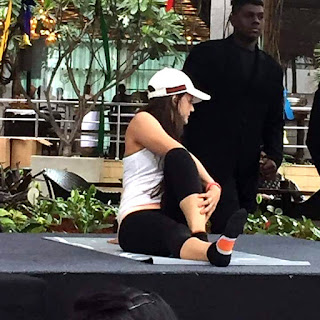 Amisha Patel Yoga At Outdoor