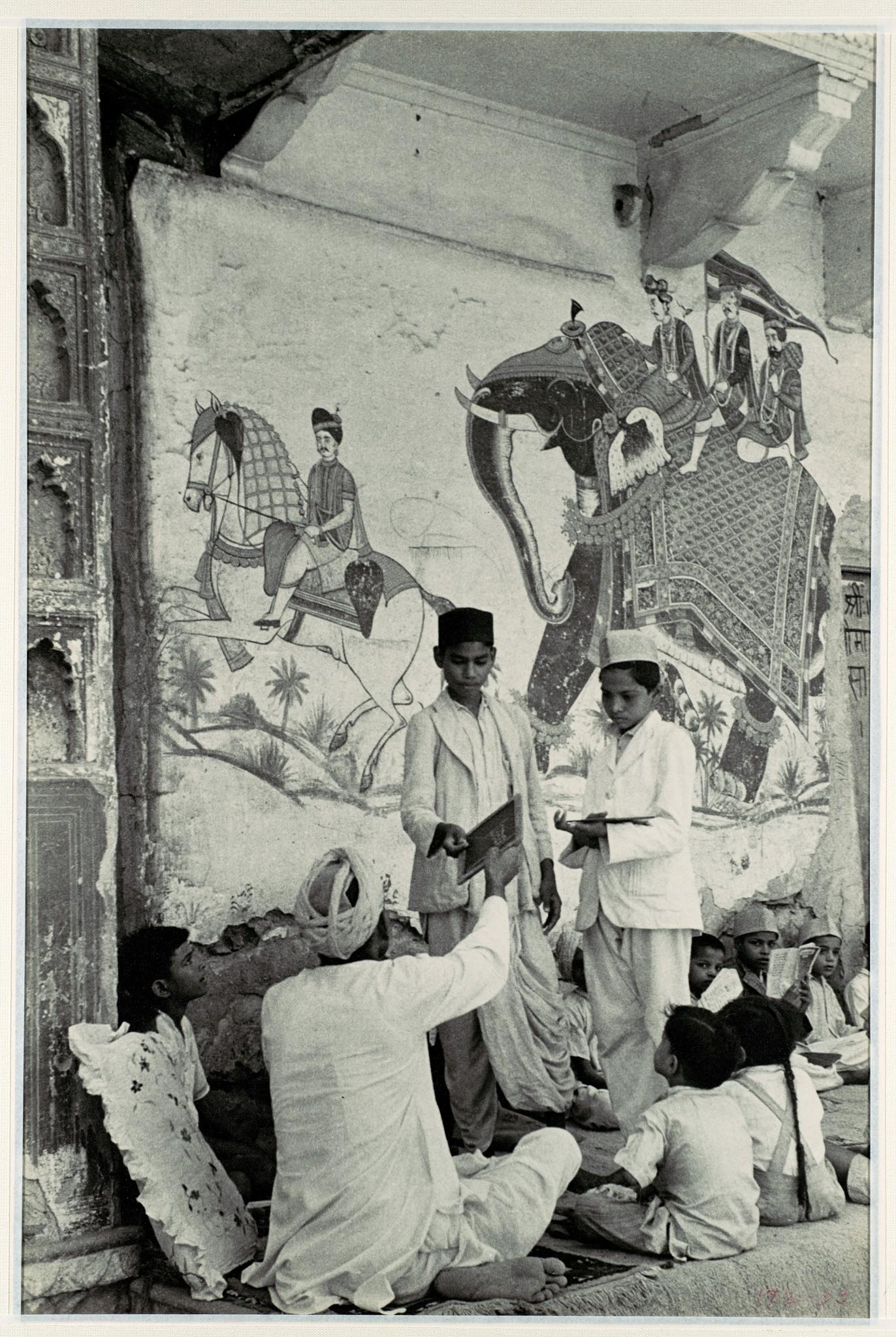 Pavement School, Gelatin Silver Print - Jaipur, c1948