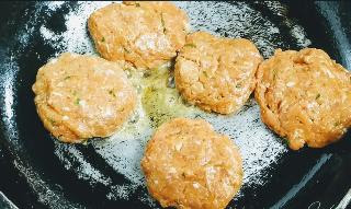 Cooking galouti kebab patties on pan for galouti kebab recipe
