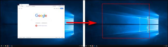 تحريك نافذة بين شاشات العرض في Windows 10