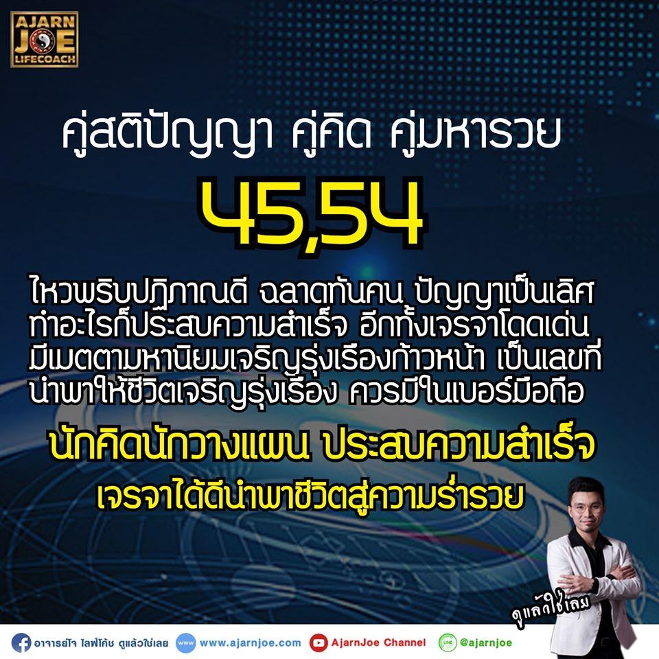 ความหมายของเลข 45 - 54