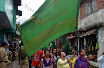 GNLF GNSF rally in Mungpoo