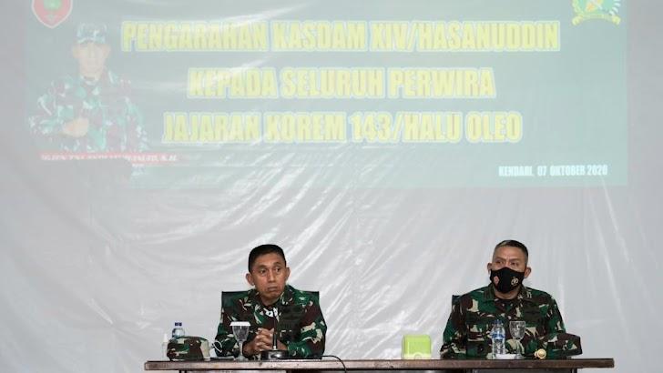 Kunjungi Korem Kendari, Kasdam Hasanuddin Cek Stabilitas Sultra