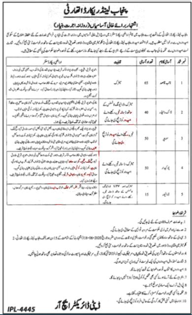 Punjab Land Records Authority 2020