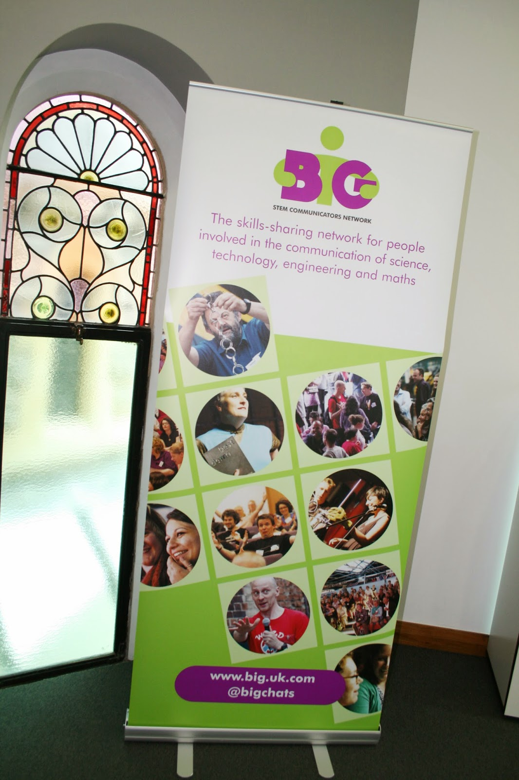 roll-up banner stand and booklets for BIG event