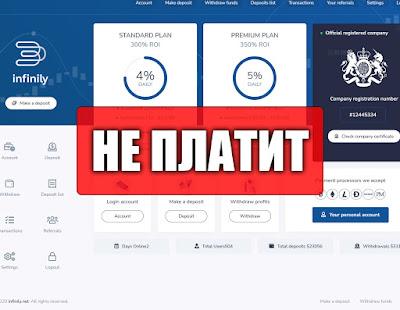 Скриншоты выплат с хайпа infinily.net