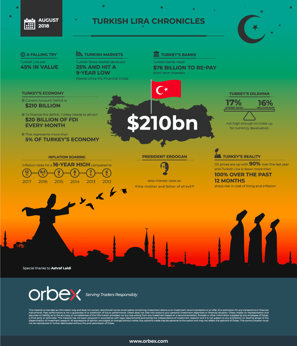 Turkish Lira Chronicles #infographic